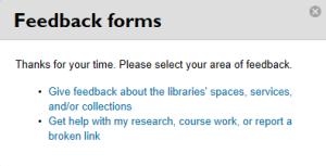 feedback forms